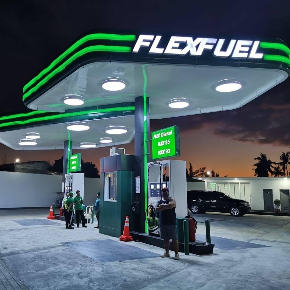 flex fuel gas station