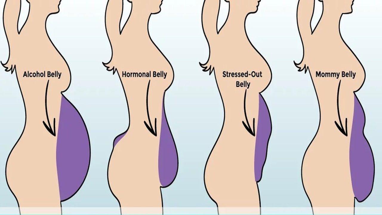 8 Types Of Belly Fat And How To Get Rid of Them?