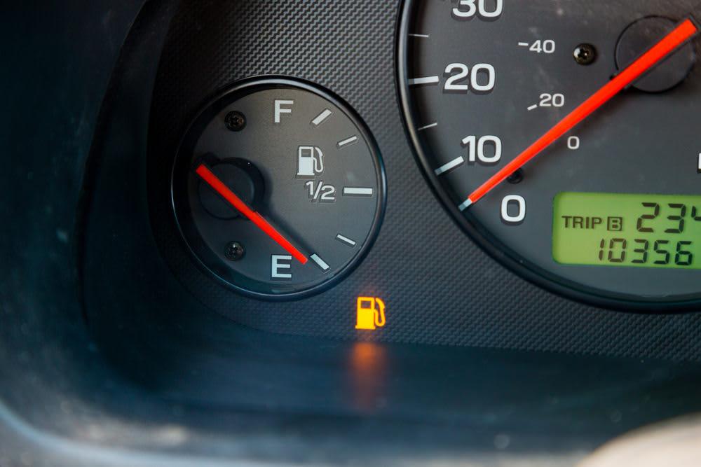 gas light turned on